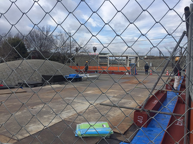 ウィンク陸上競技場サブトラックの工事がは_6550