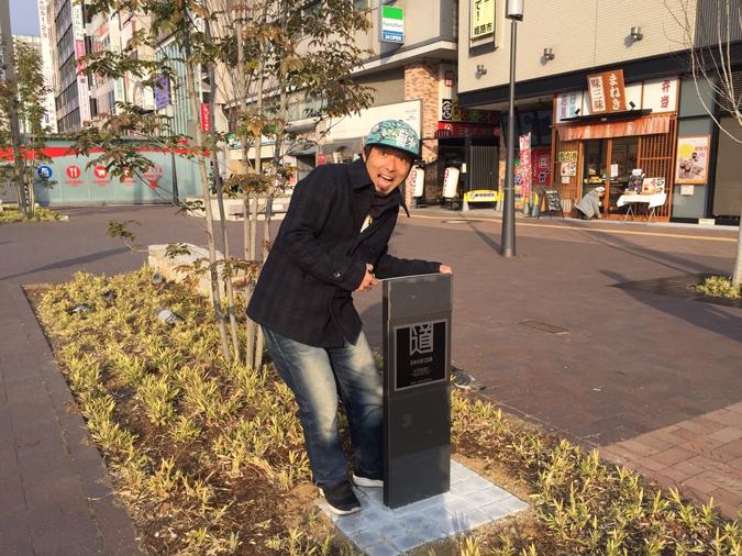 大手前通りに日本の道百選の記念碑ができて_2407