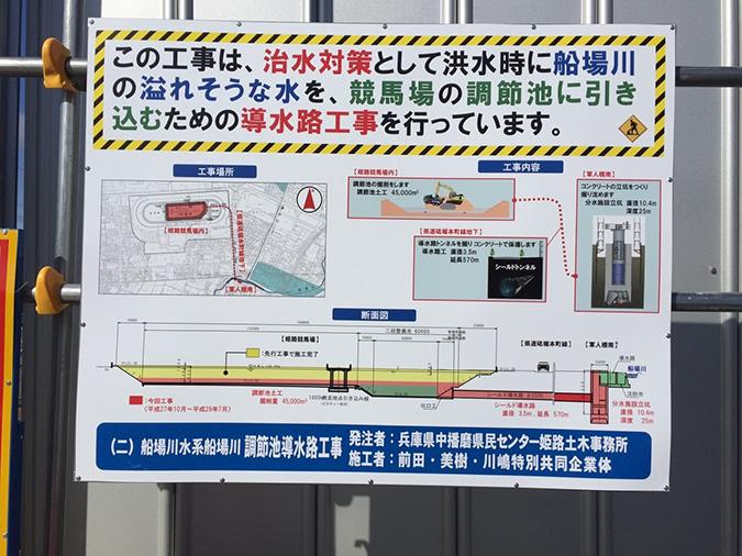 姫路競馬場の地下に巨大導水路トンネルが_9761