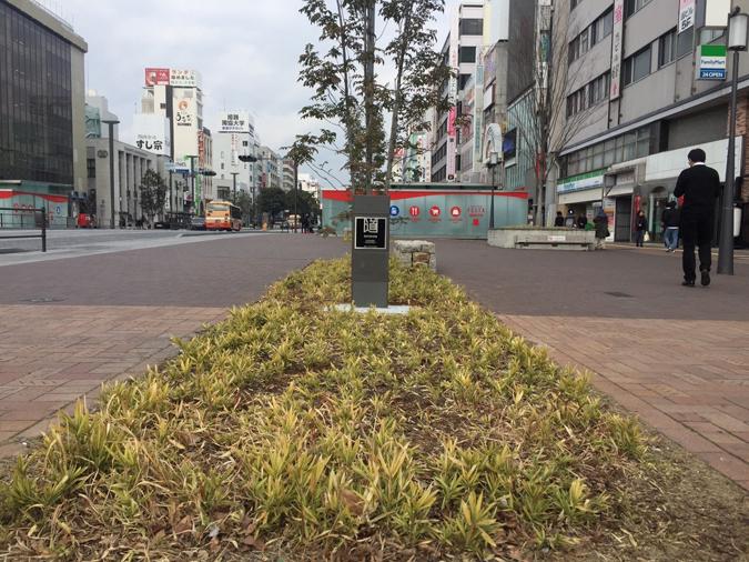 大手前通りに日本の道百選の記念碑ができて_1347
