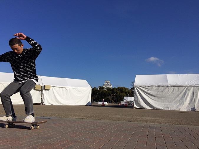 今日の姫路城--おーリーで姫路城を通す_6369