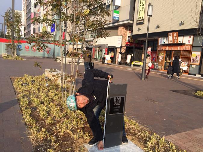 大手前通りに日本の道百選の記念碑ができて_7255