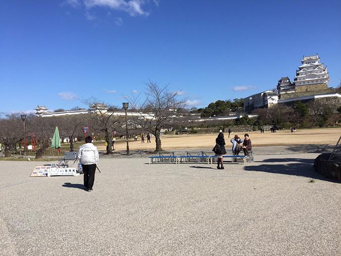 姫路城記念撮影の岩のとこを剪定してた_6104