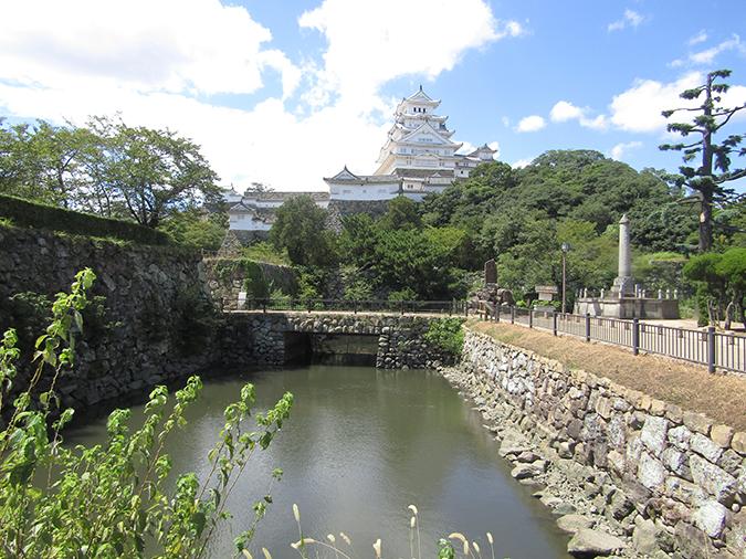今日の姫路城水位が下がって21