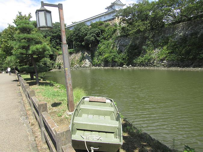 今日の姫路城水位が下がって12