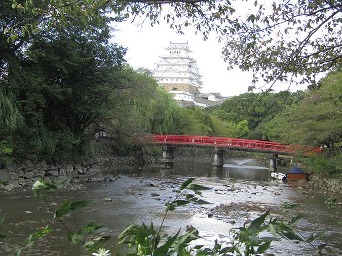 今日の姫路城水位が下がって23
