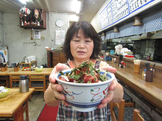 新竹三楽のマグロ丼7