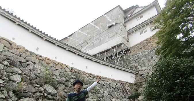 姫路城、修理中の櫓公開5