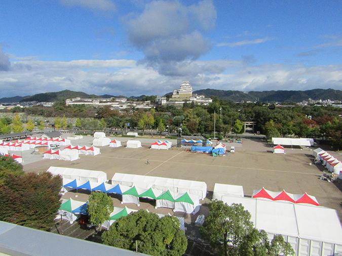 今日の姫路城20161029姫路国際交流フェスティバル6