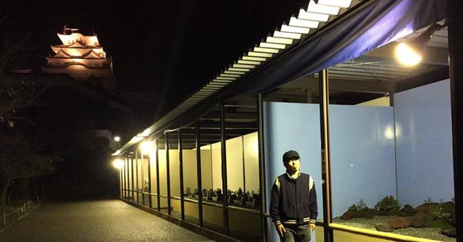姫路城菊花展夜3