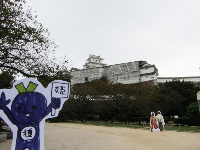 姫路城、修理中の櫓公開7