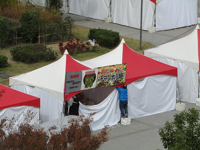 今日の姫路城食博準備2