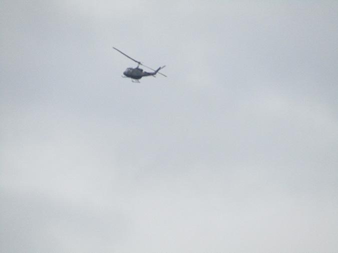 今日の姫路城ヘリ飛んでた2