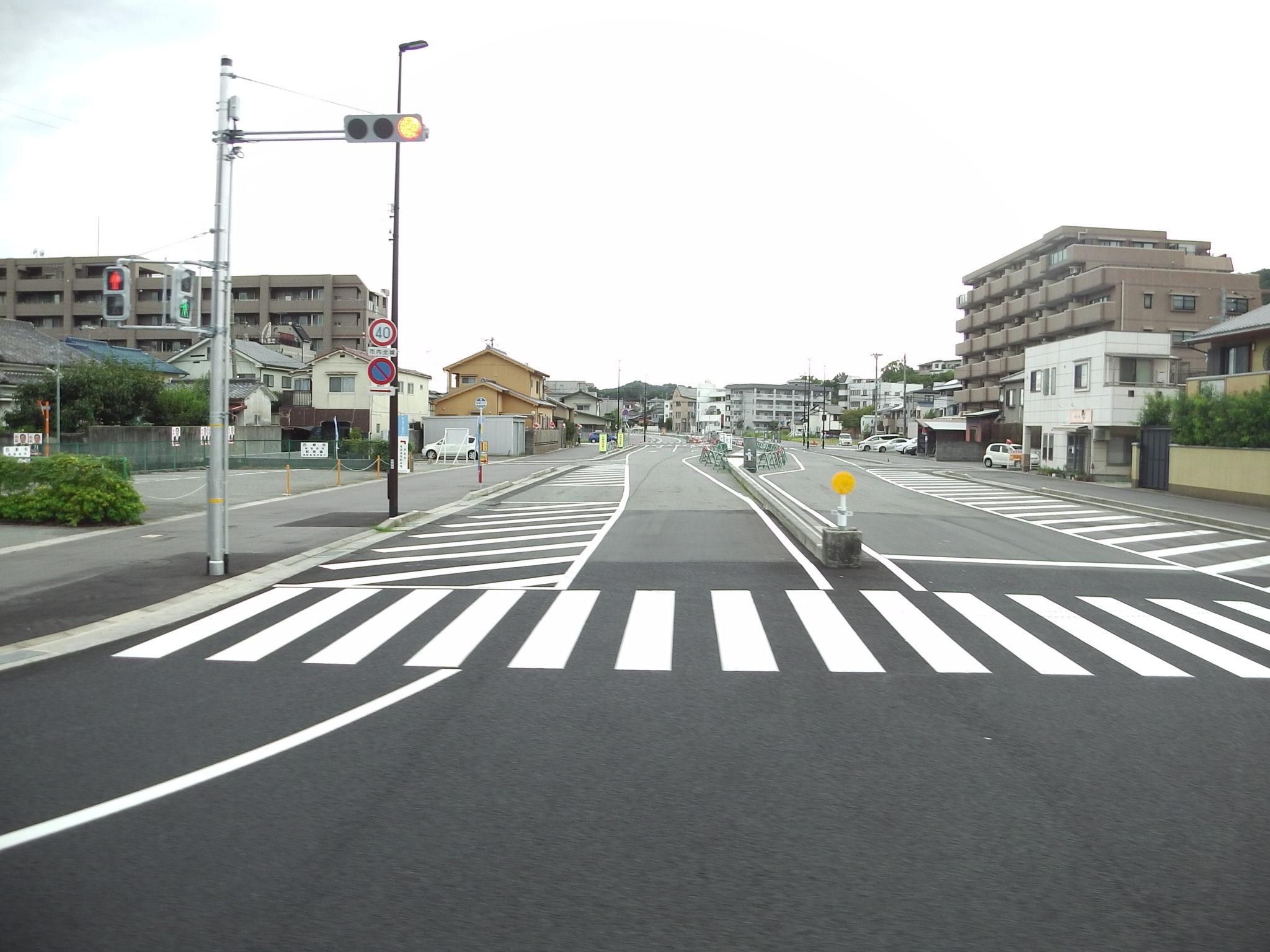兵庫県立大学の南に新しい道路が開通している【8/28】バス停も移動 ...